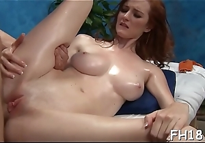Hot oversexed gets a pussy massage then screwed hard!