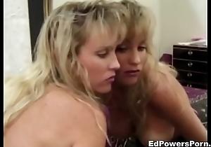 Busty blonde rubs cum-hole