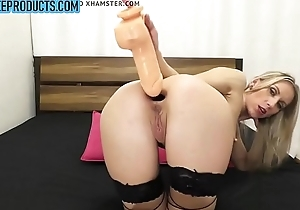Russian blonde deep anal vibrator and gaping - claimfreeproducts.com