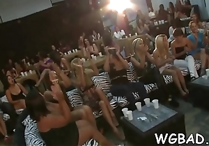 Sweet beauties are sucking male strippers'_ peckers