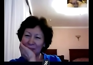 GRANNY from Kazahstan wait for me how I behave oneself beyond skype  - CChat.Us