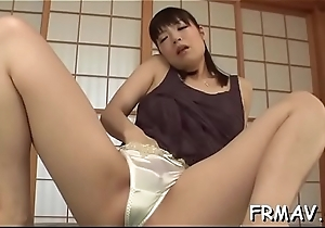 Sweltering asian collects loving sperm anent lather everywhere their way hairy twat