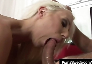 Platinum Tow-headed Puma Swede Brashness &amp_ Pussy Fucks Big Cock!