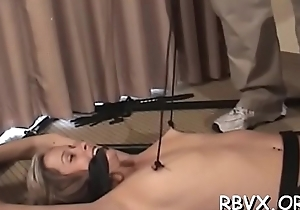 Cuties get delimited jointly and titillated by a vibrator