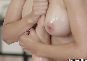 MILF Masseuse and say no to first female client - Sarah Vandella and Ryan Keely