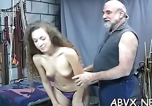 Teen delights up violent pleasure on her shaved cunt
