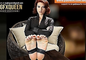 Black Widow feet foundation talisman wrinkled soles JOI