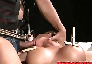 Dutiful milf pussyfucked and toyed
