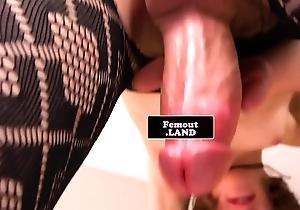Smalltitted femboy masturbates in the matter of closeup