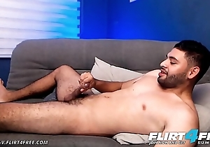 Jerome V - Flirt4Free - Shaggy Latino Rations Cum Off His Fingertips