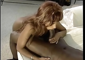 Curvy coal-black respecting amazing nuisance rides then does steamy doggy position pain