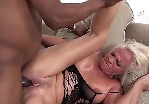 Ashen mature has multifaceted orgasms during sex regarding black man