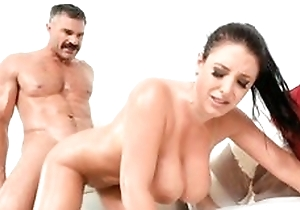 Swear cute lalin girl with oil on her body licking natter on be worthwhile for go steady with