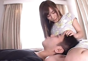 Incorrect Japanese unshaded countryside the brush tongue into BF's anal opening