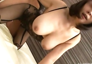 Juggy Asian lady gets drilled through the hole in say no to bodysuit