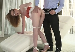 Nerdy girl gets their way eager asshole fractured and fucked abysm