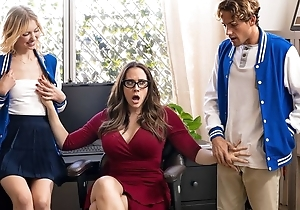 Thrilling MILF with glasses teaches students how to fuck