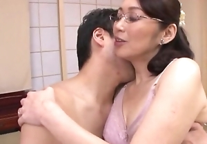 Japanese slutty wife respecting glasses gets fucked bilge water abyss