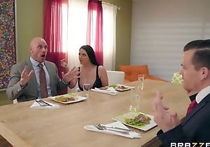 Brazzers cheating wife seduced the brush husband's business partner