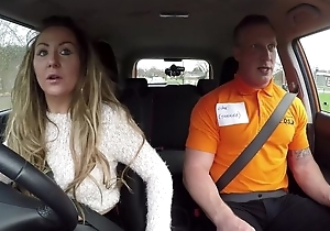 Long-haired MILF blows say no to jalopy driving cram