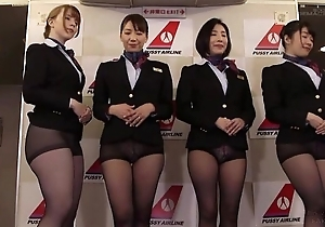 Score of Asian stewardesses getting fucked good and proper