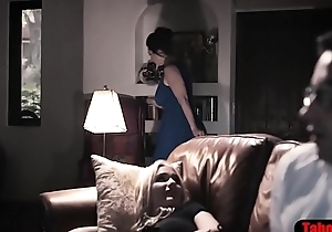 Slutty sister takes pity and fucks nerdy stepbrother
