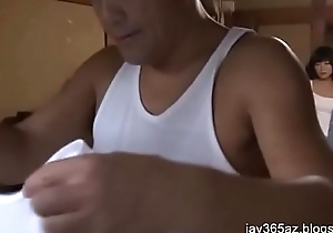 japanese girl has  sex take middle age man