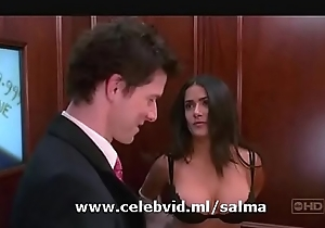 SALMA HAYEK DELETED BRA Stumble Back MOVIE