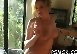 Sweetheart smokin' and giving a deepthroat on a former occasion