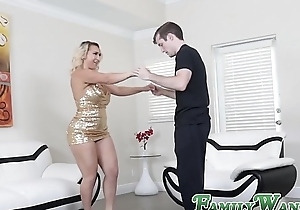 Glamorous mom Nina Kayy bouncing essentially stepsons lucky weasel words