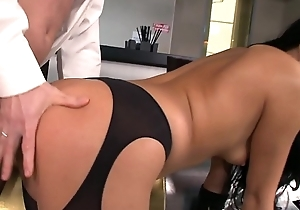Glamcore euro beauty sucks with the addition of gets fucked into ass